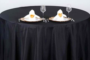 Round Table With Black Tablecloth