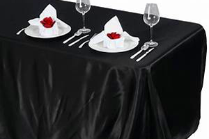 Rectangular Table With Black Tablecloth